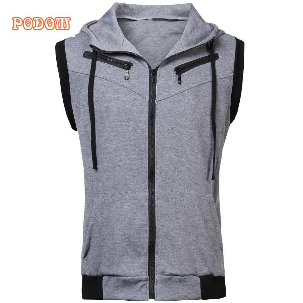 Popular Sleeveless Hoodie Zipper-Buy Cheap Sleeveless Hoodie ...