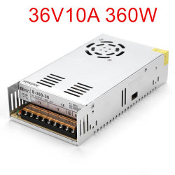 Beste kwaliteit 36V 10A 360W Switching Power Supply Driver voor CCTV camera LED Strip AC 100-240V Input naar DC 36V