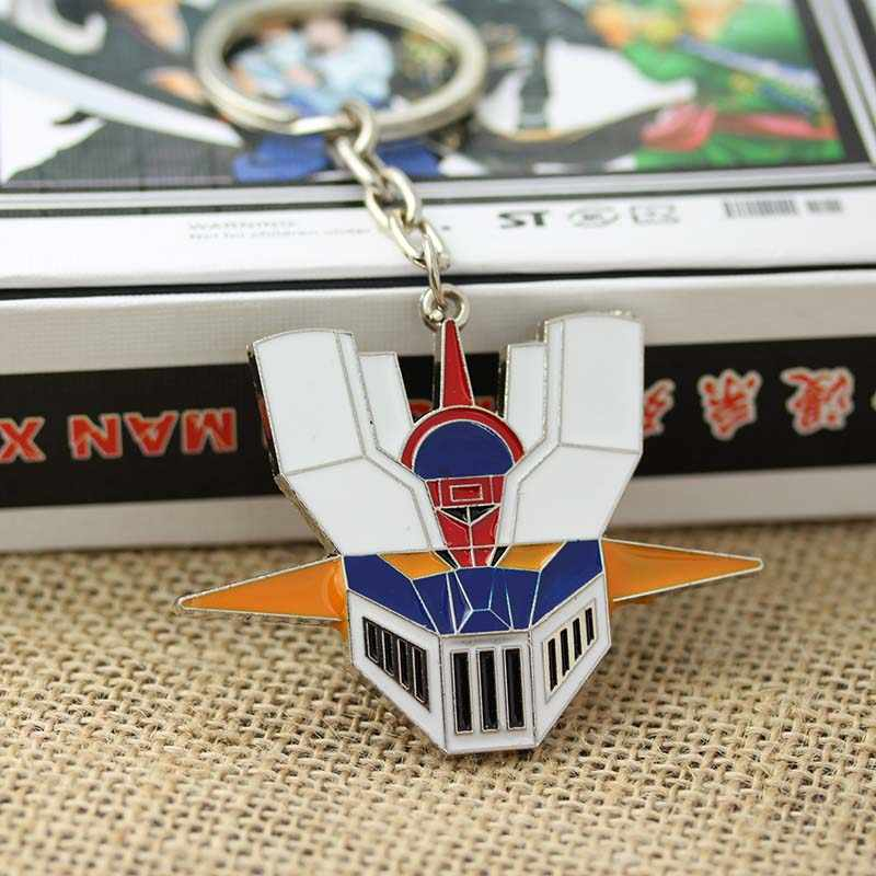 Anime marin lune Mazinger Z Head multicolore masque porte-clés hommes et femmes pendentif bijoux clé de voiture accessoires 1 pc