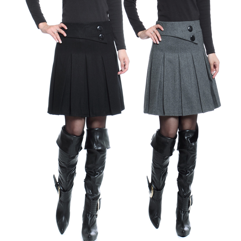 Compare Prices on Black Wool Pleated Skirt- Online Shopping/Buy ...