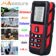 UMEASURE Red Color Laser Range Finder 0~100M /328ft Distance Area Volume Measurer Digital Laser Distance Meter 1 Year Warranty 100m 328ft laser rangefinder digital laser distance meter handheld range finder area volume measurement level bubble