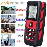 UMEASURE Red Color Laser Range Finder 0 100M 328ft Distance Area Volume Measurer Digital Laser Distance