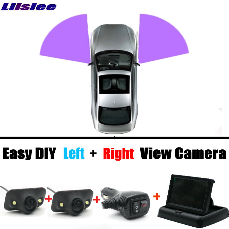 Left & Right All Car Camera Cigarette Power Variable Channel Blind Spots Invisible Areas Copilot Camera Monitor Parking System for mazda 2 demio 3 axela 323 familia 6 m6 liislee car side view camera blind spots areas flexible copilot camera monitor system