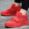 2016 Марка Мужчины Повседневная Обувь Высокого Лучших Воздуха Спорт Корзина Обувь Дышащая Любителей Пешеходных Суперзвезда Тренеры Zapatillas Красный