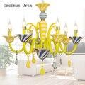 Europäischen Luxus Gelb Kristall Kronleuchter Mädchen Schlafzimmer Prinzessin Zimmer Kinderzimmer Licht Cartoon Kreative LED Traum Kronleuchter