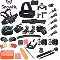 Gopro Accessories Set Helmet Harness Chest Belt Head Mount Strap Monopod Go pro hero3 Hero 4 session 3+ xiaomi yi SJ4000 GS34