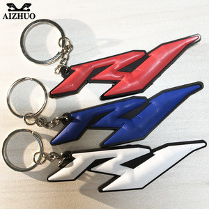 For Yamaha R1 YZF R1 Motorcycle Accessories Keychain Keyring Cool New Hot Selling Gift Key Chain Soft Rubber Motorcycle Key Ring