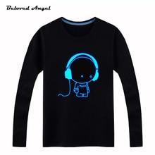 Brand New 100 160cm Long Sleeve Boys Girls T shirts Child Tops Hip Hop Neon Print