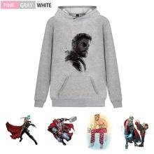 цена на Marvel Superhero Thor Illustration Fashion Thick Men/woman outfit Hoodie Kangaroo Pocket Winter  Unisex Sweatshirt A193291