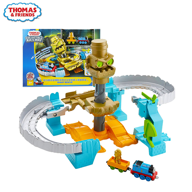 Originais Thomas & Friends Mini Trem Liga Manual Do Espaço Robô de Exploração Ferroviária Pista Menino Dom Brinquedos Modelo de Carro Para crianças