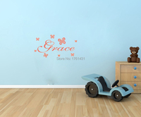PERSONALISED NAME WALL ART STICKERS GIRL BOY 3 SIZES Butterfly Decoration Wall Art Decals Home Decoration