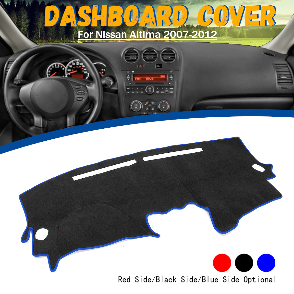 Non-Slip Car Dashboard Cover Dash Mat Sun Shade Pad Dash Board Cover For Nissan Altima 2007-2012