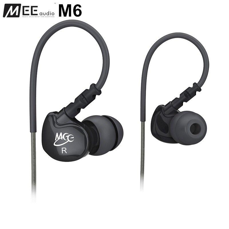 MEE audio Sport-Fi M6 Noise Isolating In-Ear Earphones with Memory Wire Cheap Original Earphones VS SHURE SE215. sport elite se 2450