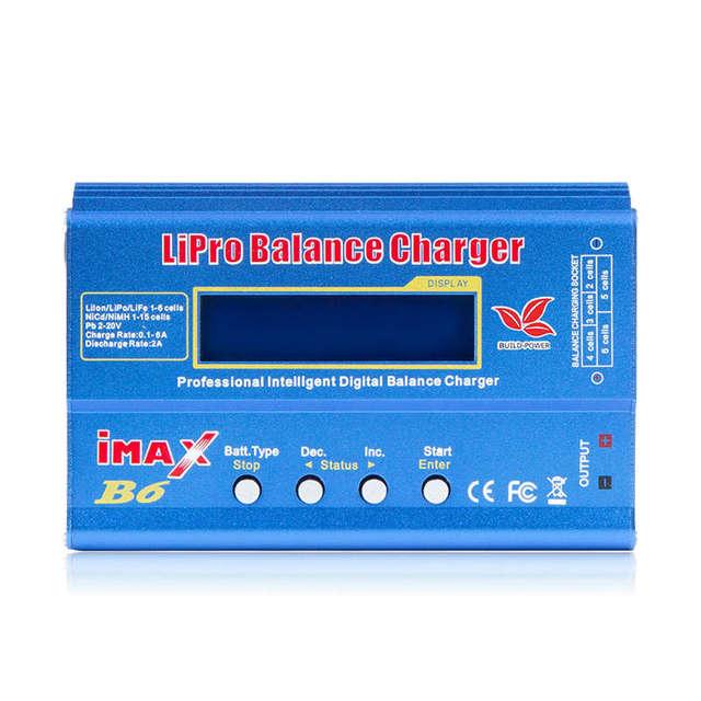 Imax B6 12vバッテリー充電器80ワットliproバランス充電器ニッケル水素リチウムイオンni cdデジタルrc充電器12v 6A電源アダプタ充電器 (無plu