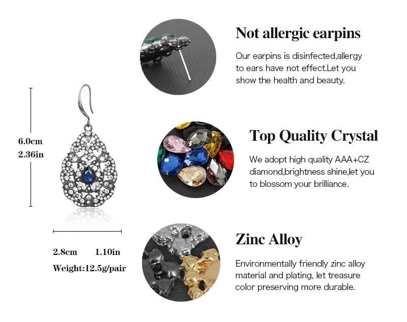 VEYO Pendientes de cristal Pendientes de diamantes de imitación de - Bisutería - foto 6