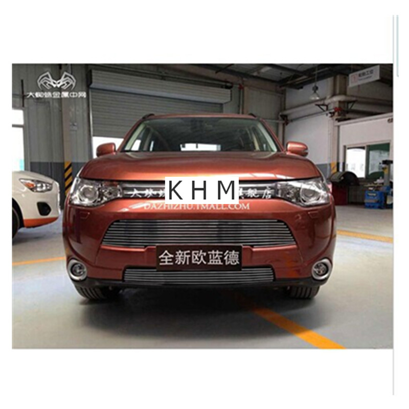 Pour Mitsubishi Outlander samouraï 2013 2014 2015 2016 haute qualité en acier inoxydable Grille avant autour de garniture course grilles garniture