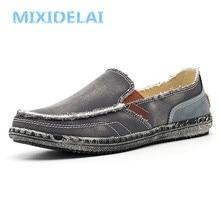 MIXIDELAI classic canvas shoes men 2019 lazy shoes