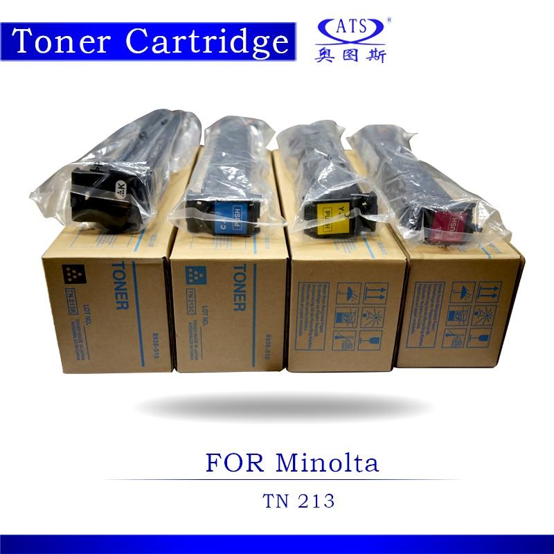 1PCS BK466G CMY364G Toner Photocopy machine Toner Cartridge For Minolta Compatible Bizhub TN213 C 203 253 Copier Parts C203 1pcs 1kg toner powder photocopy machine