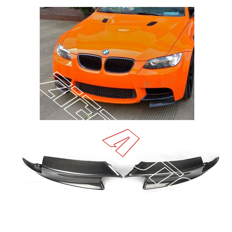 Carbon Fiber Front Splitters for BMW E92 M3 Front Bumper Lip Flaps BMW Carbon Parts Body Kit