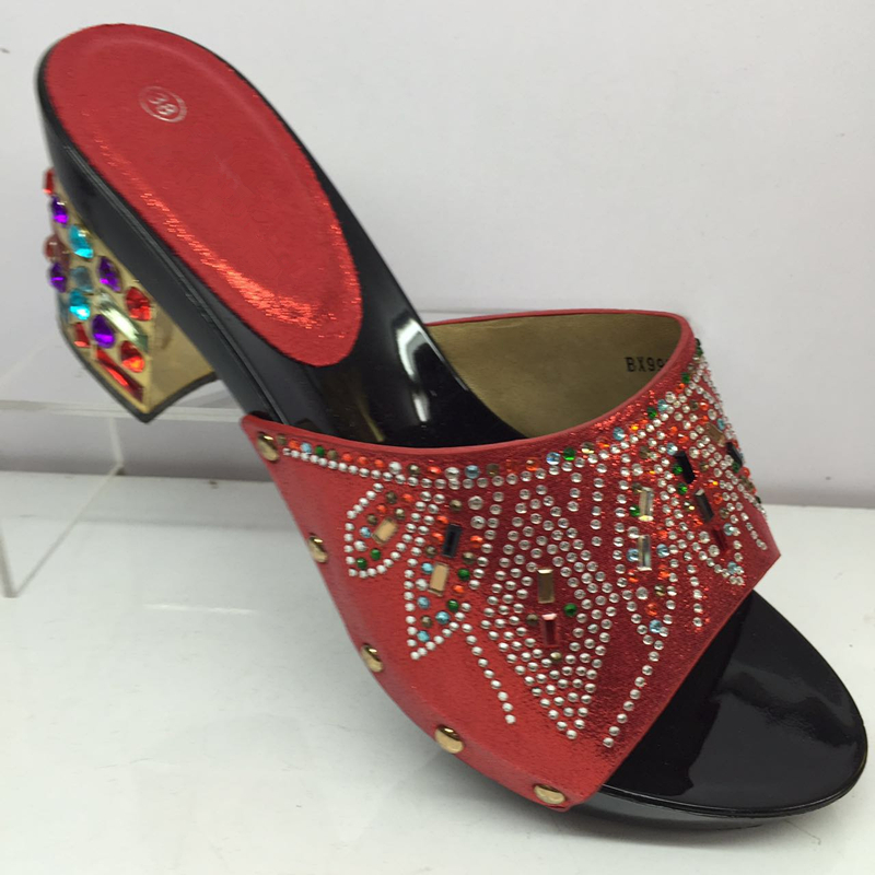 Con naranja púrpura Mujeres Damas Tacones Mujer Cuadrado rojo Azul Partido Slip Del Pie Tacón Zapatos Sandalias oro Lujo Dedo Para Italiano Nigeria Redonda fuchsia amarillo on plata 5IIBw1q