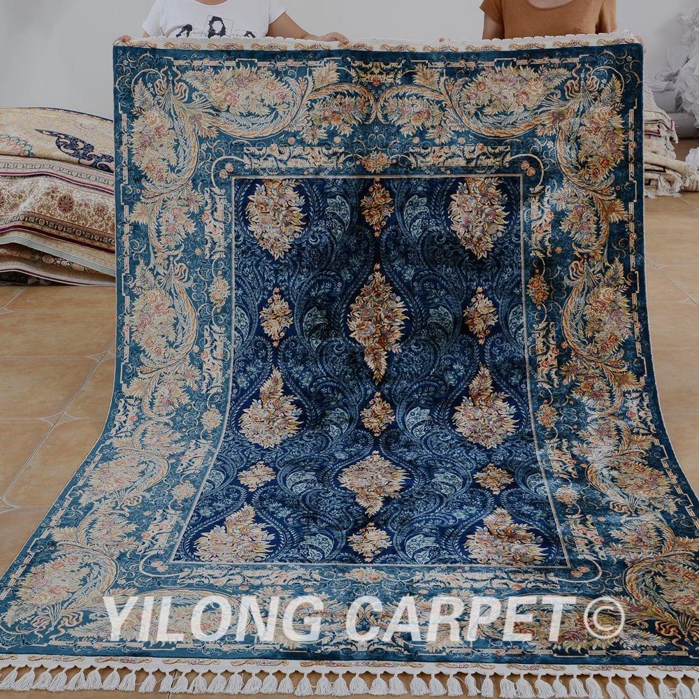 Yilong 5.6'x8 'antik kézzel készített perzsa tabriz szőnyeg - Lakástextil