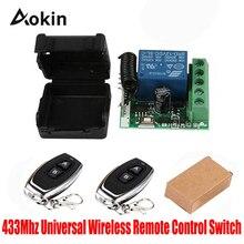 433 МГц Универсальный беспроводной пульт дистанционного управления DC 12 В 1CH релейный модуль приемника и 4 шт. РЧ передатчик 433 МГц пульт дистанционного управления