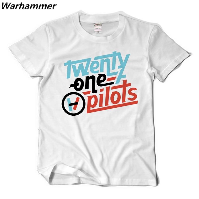 Twenty One Pilots 21 T Shirt Men Rock Style Summer Tee Shirt Homme O