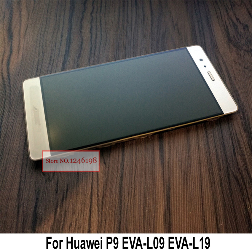5.2 Black/White/Gold Full LCD Display Touch Screen Digitizer Assembly With Frame For Huawei P9 EVA-L09 EVA-L19 Smartphone Part