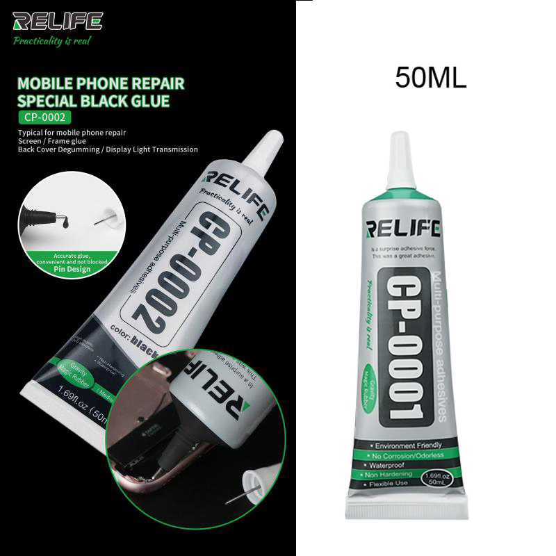 RELIFE Glue Latest Mobile Phone Repair Special Glue RELIFE CP-0001 Transparent  CP-0002 Black Glue For Screen Frame Repair Tool