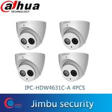 Dahua 6MP POE H.265 IP 카메라 다국어 IPC HDW4631C A 4PCS 내장 마이크 돔 IPMental 보안 카메라 ONVIF