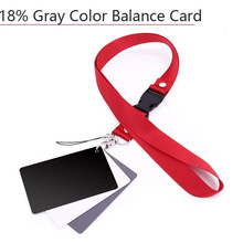 3 In 1 White Black Grey Balance Cards 18 Degree Gray Card S Size with Neck Strap Photography Accessories for Digital DSLR Camera idiot s guides digital photography