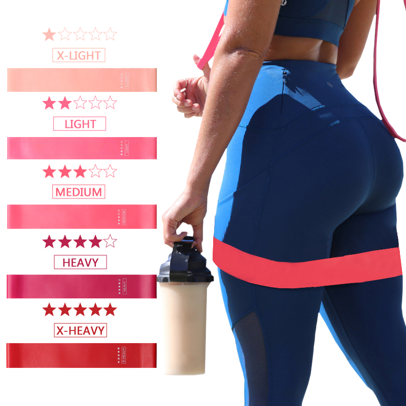 Resistance Bands Fitness Gum Exercise Gradient Color Sports Elastic Band Strength Training Athletic Rubber Loop Workout Expander|Resistance Bands| - AliExpress