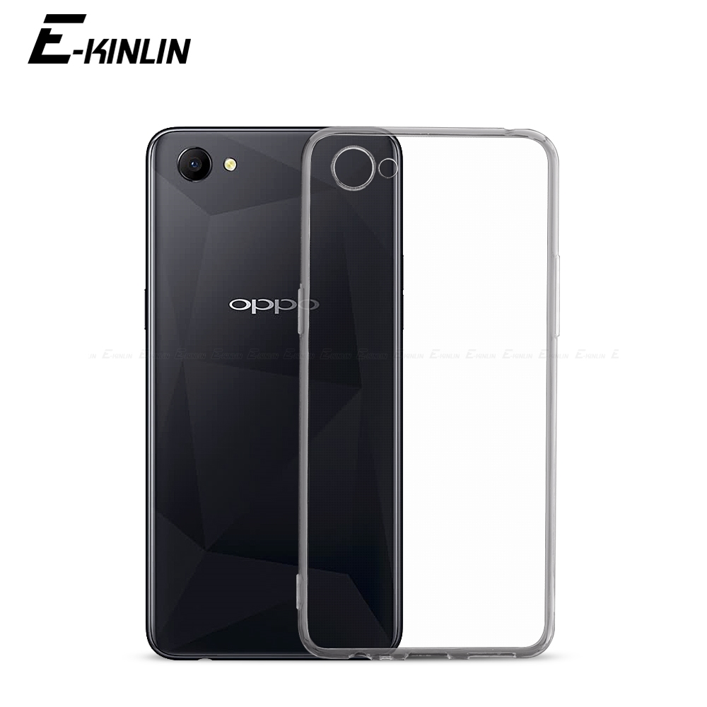 Ultra Thin Clear Soft TPU <font><b>Case</b></font> For <font><b>Oppo</b></font> A3s A3 AX5 A1 A83 A79 A77 A75 A73 A73s <font><b>A71</b></font> A71k 2018 A59 A57 A39 A37 A33 Back Cover image