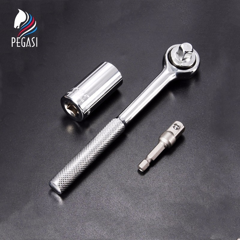 PEGASI 7-19mm Drill Universal Socket Multi-Function Locksmith Screwdriver Wrench Adapter Sleeve Repair Tool Kit Hand Tool Set
