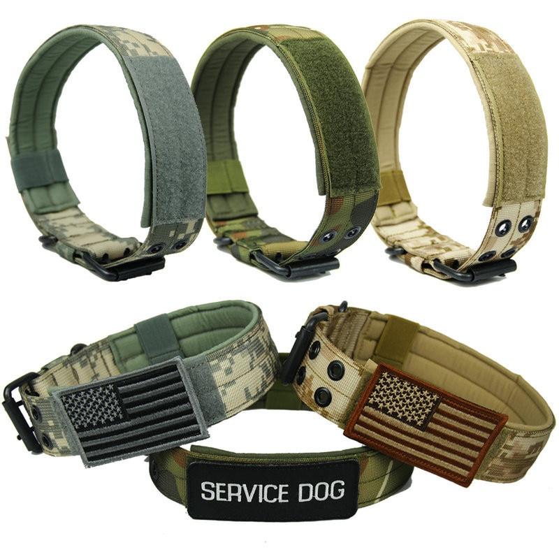 4.5 cm Width Durable Nylon Dog Collar Outdoor Tactical Train