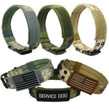 4,5 см ширина прочный нейлоновый ошейник для собаки Открытый тактический тренировочный ошейник для питомца военный ошейник для собаки полиция товары для домашних животных оптовая продажа