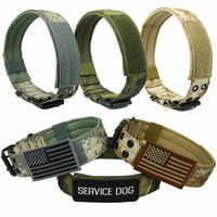 4.5 cm largeur Durable en Nylon collier de chien en plein air tactique collier de formation pour animaux de compagnie collier militaire chien Police produits pour animaux de compagnie en gros