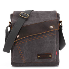 цена на Men Messenger Bag High Quality Canvas Vintage Handbag Shoulder Bag For Men Casual Crossbody Travel Bags bolsa masculina