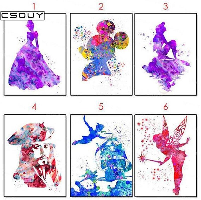 5D Diy Diamond Broderi Olika Siffror 3D Diamantfärg Cross Stitch - Konst, hantverk och sömnad