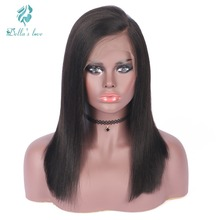 Yaki Lace Front Human Hair Extension Wigs For Black Women Brazilian Human Hair Wigs Pre Plucked Remy Natural Hair Short Bob Wigs