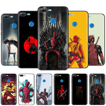 Black Silicone Case Bag Cover for Huawei Honor 10i Y7 Y6 Y5 Y9 8X 8C 8S 9 10 Lite Pro 2018 2019 Enjoy 9E 9S Marvel Deadpool(China)