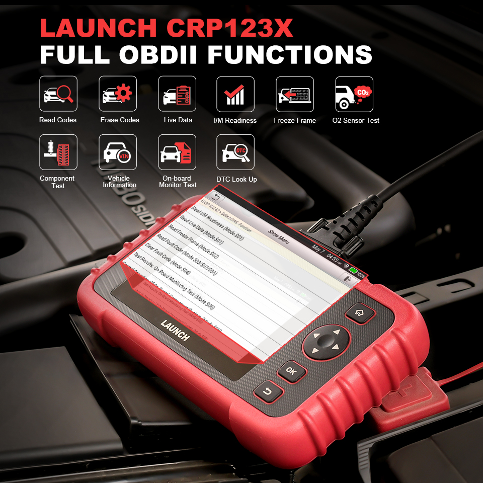 Image 3 - LAUNCH X431 CRP123X OBD2 Scanner Auto Code Reader OBDII Diagnostic Tool ENG AT ABS SRS Launch Scanner Car Automotive Tool crp123 on