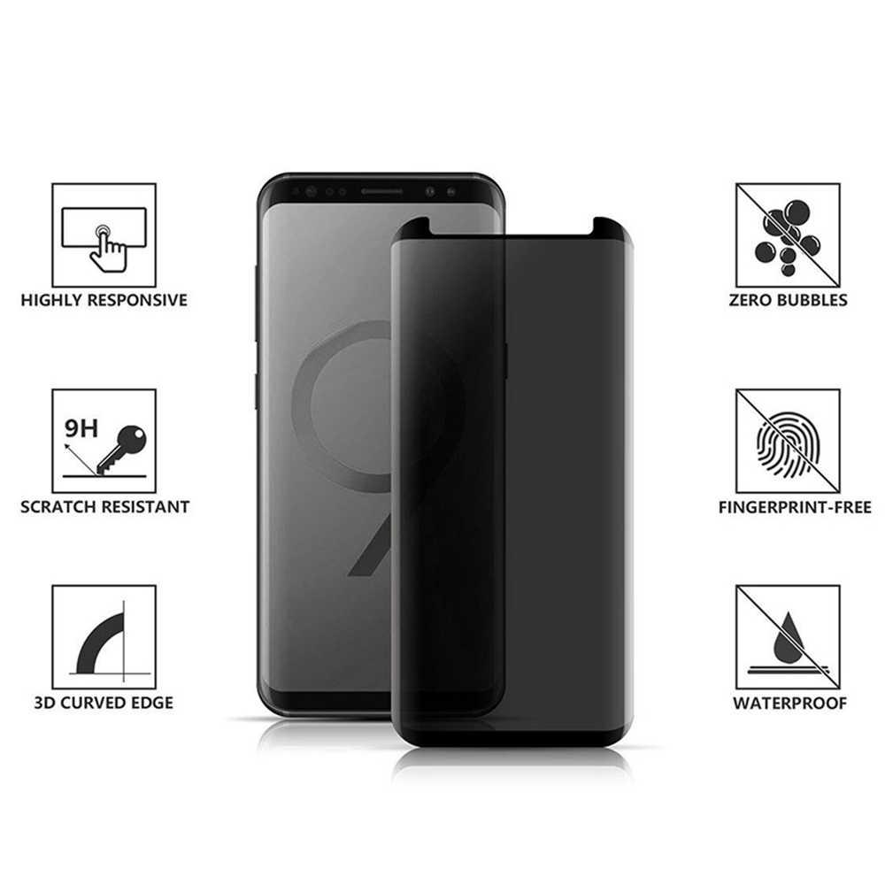 Фото Анти ищет изогнутые закаленное Стекло для samsung Galaxy S8 S9 плюс Note 8 примечание 9 3D