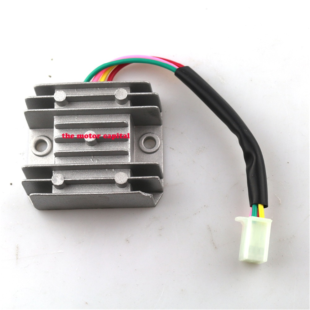 medium resolution of 4 wires voltage regulator rectifier motorcycle boat motor mercury atv gy6 50 150cc scooter free shipping