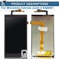 Alta qualidade para micromax aq5001 canvas juice 2 display lcd + de tela de toque digital do painel de acessórios + ferramentas