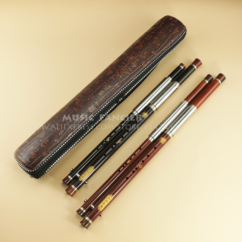 Chinese Traditional Professional Performance Bawu/Flute Mahogany Dual-Pipe Ba Wu Key of  F+bB, G+C outdoor portable multifunctional steel tool silver