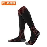 プロフェッショナルランニングソックス脚サポートストレッチスポーツソックス膝高圧縮靴下サイクリングソックス男