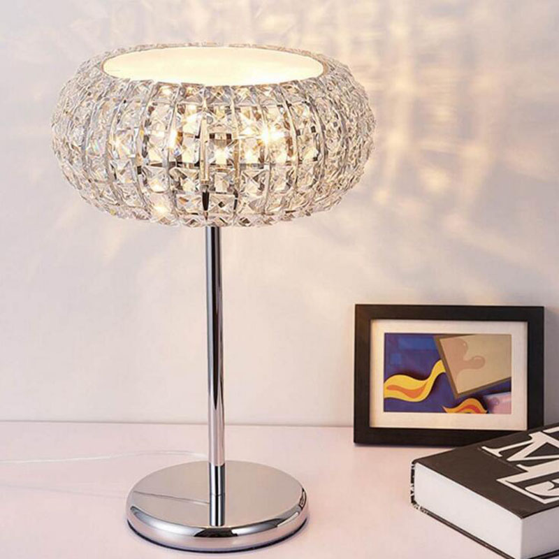 European modern crystal table lamp Home bedside lamp LED G9 lamps led lighting fixture led lamps crystal floor fixture lights french garden vertical floor lamp modern ceramic crystal lamp hotel room bedroom floor lamps dining lamp simple bedside lights