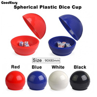 Sphericalce Plastic Cup With 6 Dices Shaking Cup Drinking Games Bingo Dices Set Night Bar Game