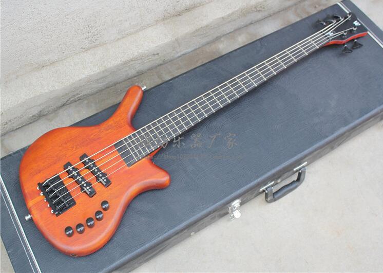 W компонент из пяти струн 26 Лады красновато коричневый электричество 5 струн бас можно изменить на активный пикап 0411